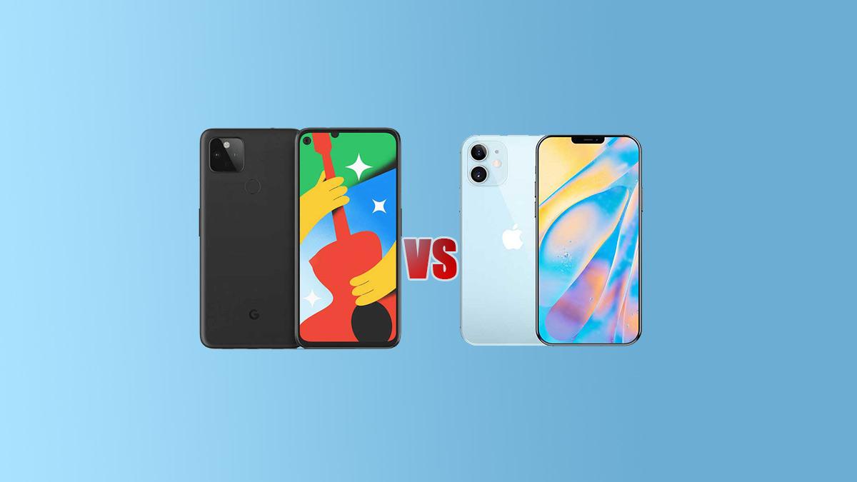 Google Pixel 4a 5G VS iPhone 12 Comparison - Specs Tech